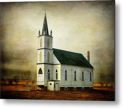 Church Metal Print featuring the photograph Canadian Prairie Heritage by Blair Wainman
