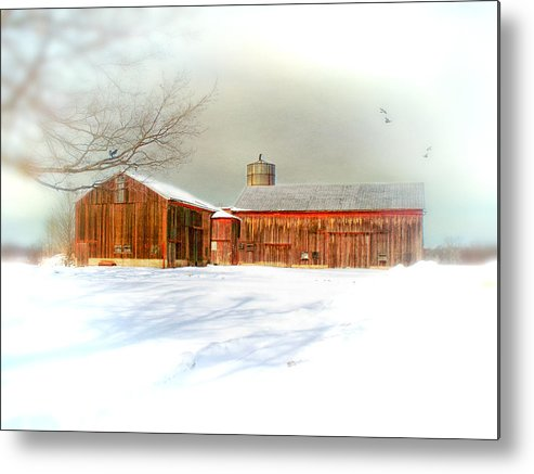 Dreamy Metal Print featuring the photograph Dreams Of A White Christmas by Mary Timman