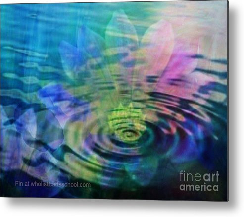 Ripple Metal Print featuring the painting Energy Ripples by PainterArtist FIN