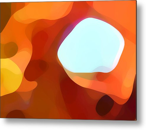 Abstract Metal Print featuring the painting Fall Passage by Amy Vangsgard