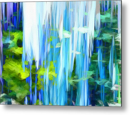 Float Metal Print featuring the mixed media Float 1 by Angelina Vick