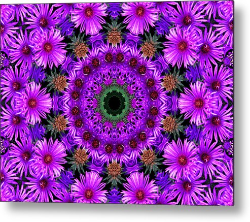 Kaleidoscope Metal Print featuring the photograph Flower Power by Kristie Bonnewell