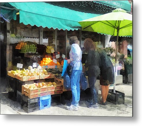 Fruit Metal Print featuring the photograph Fruit For Sale Hoboken Nj by Susan Savad