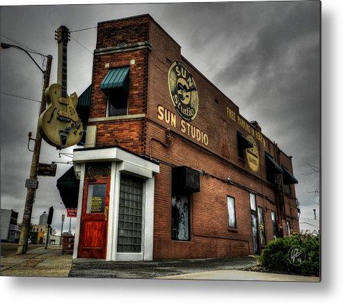 Sun Studio Metal Print featuring the photograph Memphis - Sun Studio 001 by Lance Vaughn