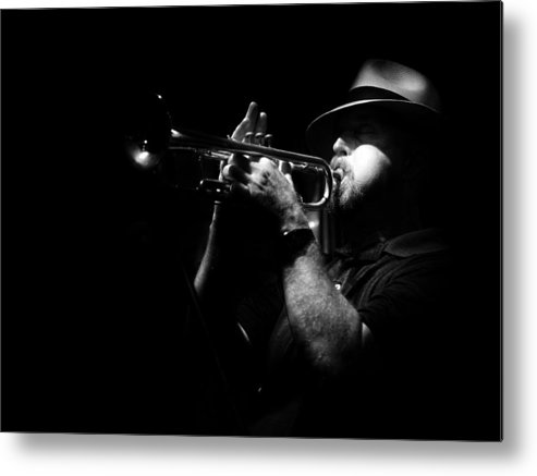 Jazz Metal Print featuring the photograph New Orleans Jazz by Brenda Bryant