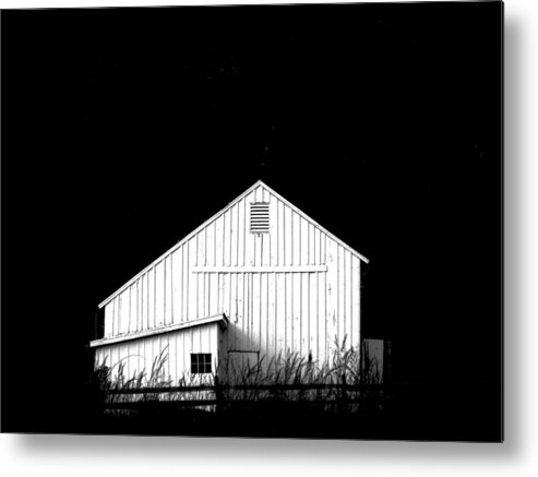White Barns Metal Print featuring the photograph Nightfall by Angela Davies