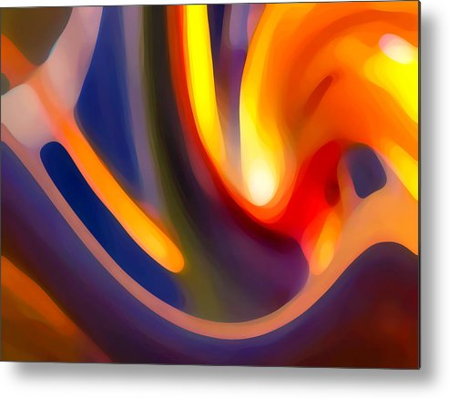 Abstract Art Metal Print featuring the photograph Paradise Creation by Amy Vangsgard