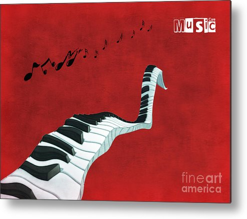 Piano Metal Print featuring the digital art Piano Fun - S01at01 by Variance Collections