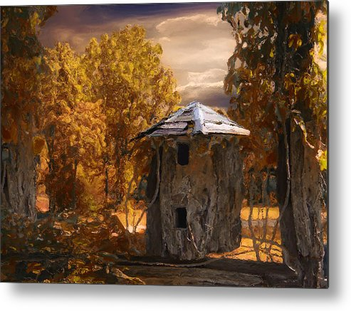 Silo Metal Print featuring the painting Remains by Jack Zulli