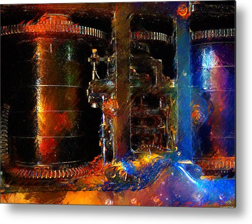 Spindle Metal Print by Carl Rolfe