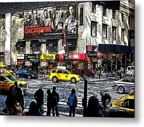 New York Metal Print featuring the photograph Streets Of Manhattan 20 by Mario Perez