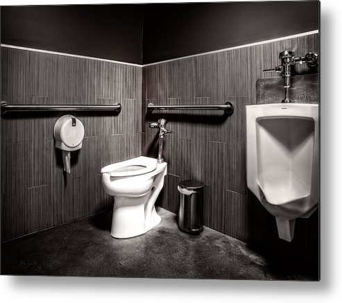 Architecture Metal Print featuring the photograph The Mens Room by Bob Orsillo