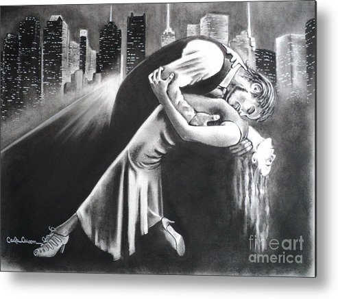 Romance Metal Print featuring the drawing True Romance by Carla Carson