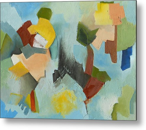 Abstract Oil Painting Metal Print featuring the painting Uniquity by Danielle Nelisse