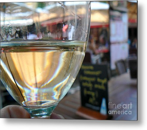 Wine Metal Print featuring the photograph Vin Blanc by France Art
