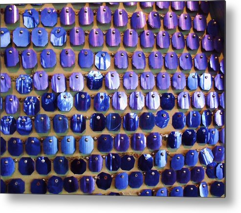 Blue Metal Print featuring the photograph Wall Of Blue by Anna Villarreal Garbis