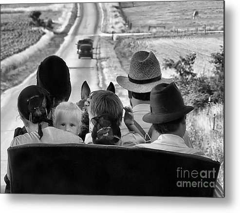 Amish Family Metal Print featuring the photograph Amish Family Outing II by Julie Dant