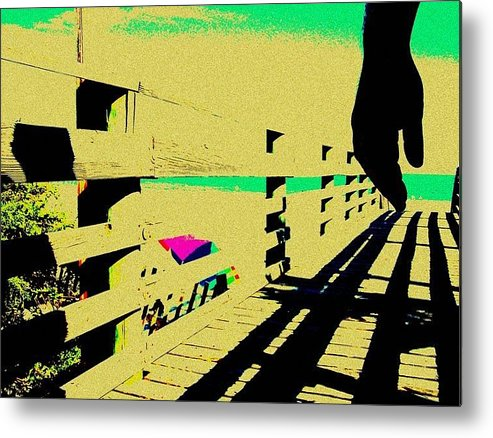 Metal Print featuring the photograph Boardwalk by YoMamaBird Rhonda