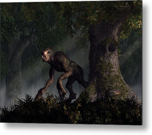 Forest Metal Print featuring the digital art Forest Creeper by Daniel Eskridge