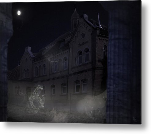Scary Metal Print featuring the digital art Haunted House by Nafets Nuarb