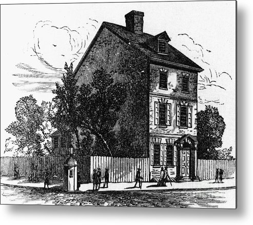 1776 Metal Print featuring the photograph Jeffersons House, 1776 by Granger