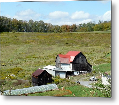 Architecture Metal Print featuring the photograph Mountain Farm by John Turner