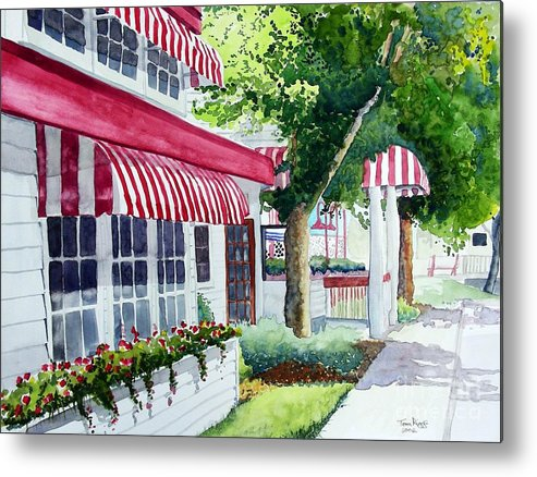 Watercolor Metal Print featuring the painting Nate's by Tom Riggs