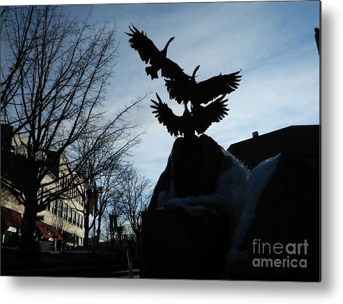 Fort Collins Metal Print featuring the photograph Old Town Silhouette by Sara Mayer