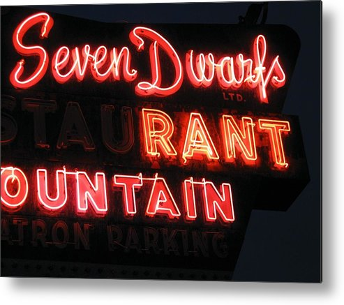 Neon Metal Print featuring the photograph Rant by Todd Sherlock