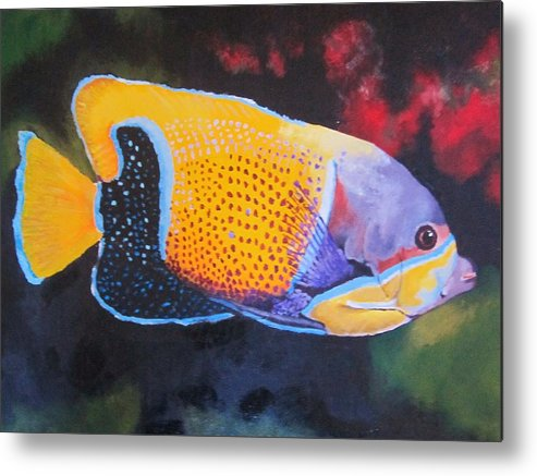 Fish Metal Print featuring the painting Sutton Fish by Terry Gill