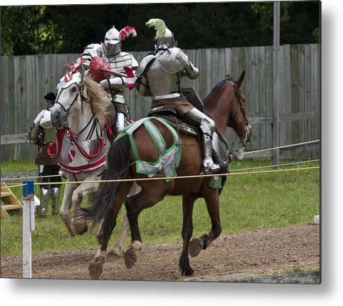 Medeival Metal Print featuring the photograph The Joust I by Charles Warren