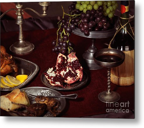 Feast Metal Print featuring the photograph Artistic Food Still Life by Oleksiy Maksymenko