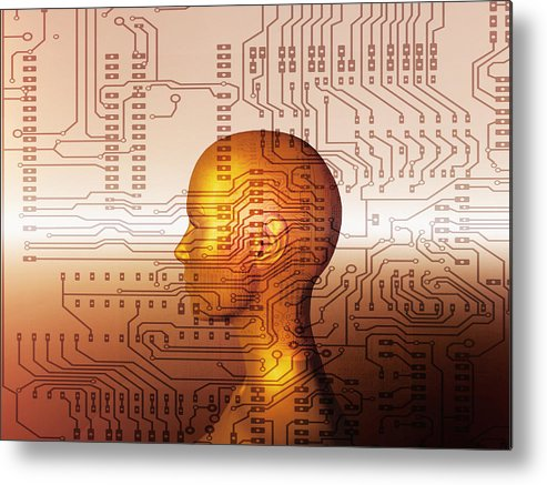 Human Metal Print featuring the photograph Artificial Intelligence by Mehau Kulyk