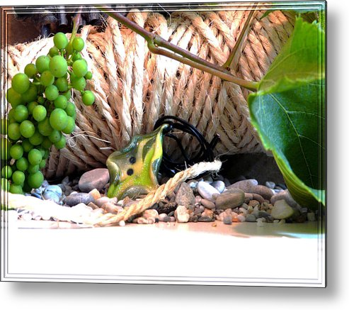 Jewel Metal Print featuring the photograph Among Ropes And Grapes by Chara Giakoumaki