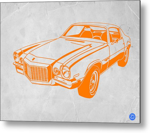 Metal Print featuring the photograph Camaro by Naxart Studio