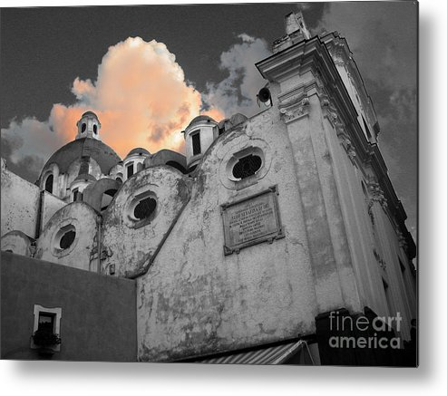 Church Metal Print featuring the photograph Capri Church by Jim Wright
