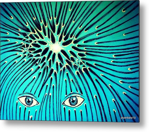 Confluence Metal Print featuring the digital art Confluence by Paulo Zerbato