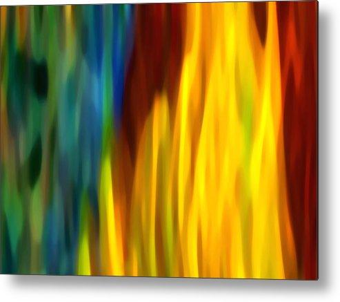 Fire Metal Print featuring the painting Fire And Water by Amy Vangsgard
