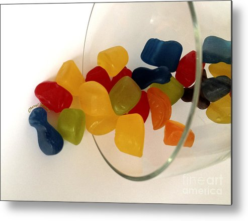 Gummi Candy Metal Print featuring the photograph Fruit Gummi Candy by Cheryl Young