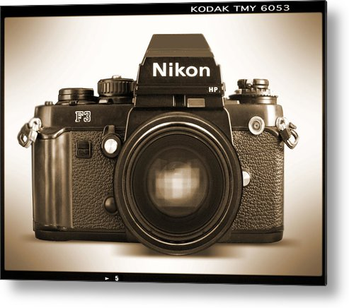 Vintage Nikon F3 Hp Metal Print featuring the photograph Nikon F3 Hp by Mike McGlothlen