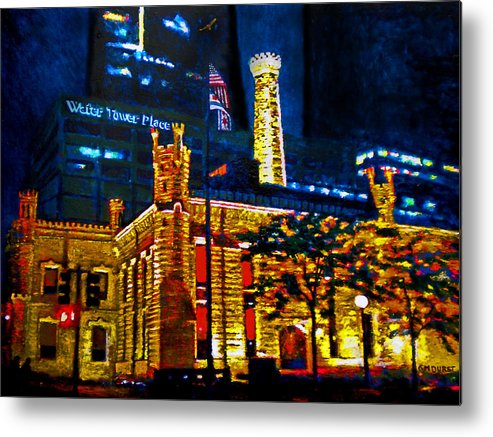 Chicago Metal Print featuring the painting Old Chicago Pumping Station by Michael Durst