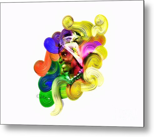Heart Metal Print featuring the digital art One Part 2 by Mo T