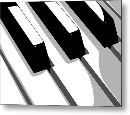 Piano Metal Print featuring the digital art Piano Keyboard by Michael Tompsett