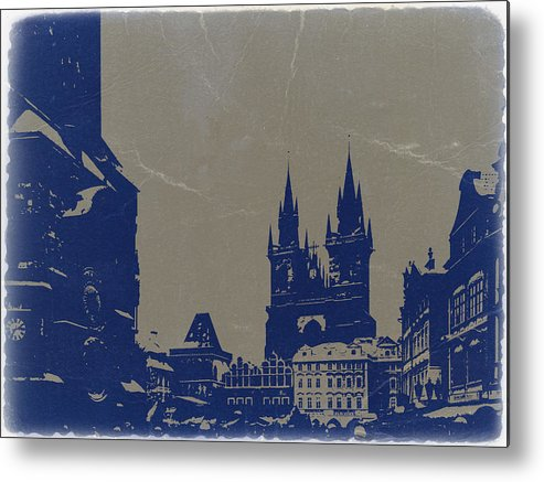 Prague Metal Print featuring the photograph Prague Old Town Square by Naxart Studio