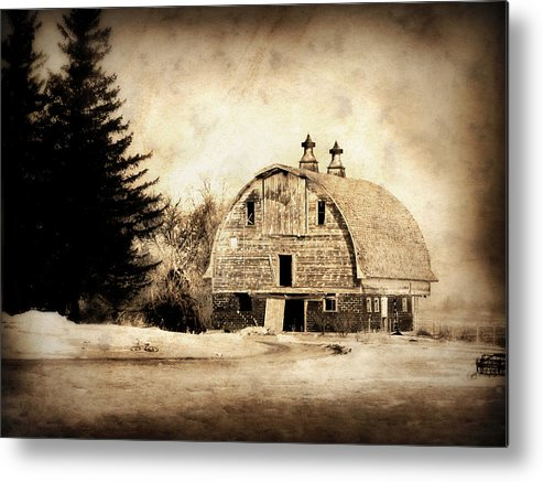 Barn Metal Print featuring the photograph Somethings Missing by Julie Hamilton
