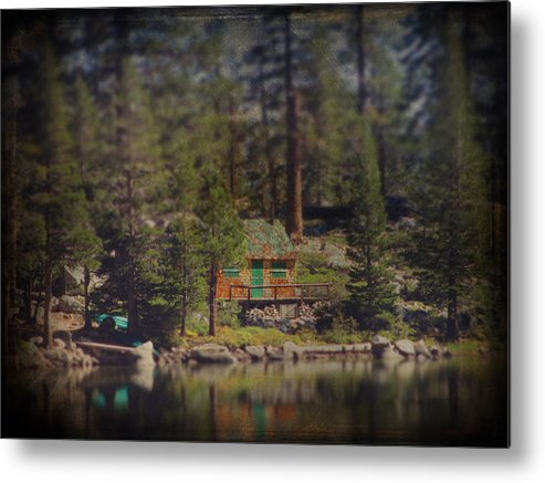 Cabin Metal Print featuring the photograph The Little Cabin by Laurie Search