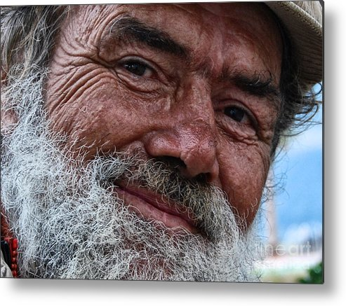 Homeless Metal Print featuring the photograph The Smile Of Life by Erhan OZBIYIK
