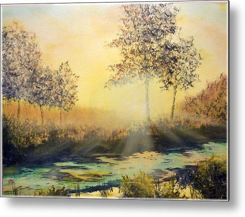 Sunset Metal Print featuring the painting When The Sun Goes Down by Kenneth McGarity