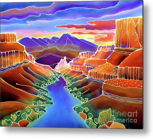 Sw Metal Print featuring the painting Canyon Sunrise by Harriet Peck Taylor
