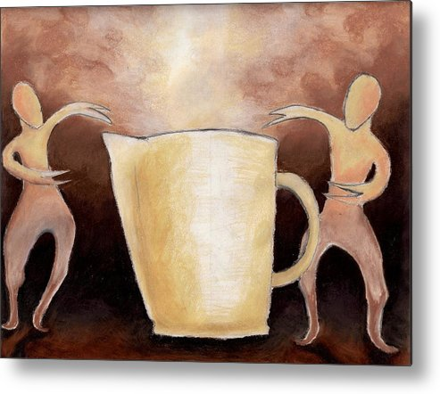 Cup Metal Print featuring the drawing Creator Of The Coffee by Keith Gruis
